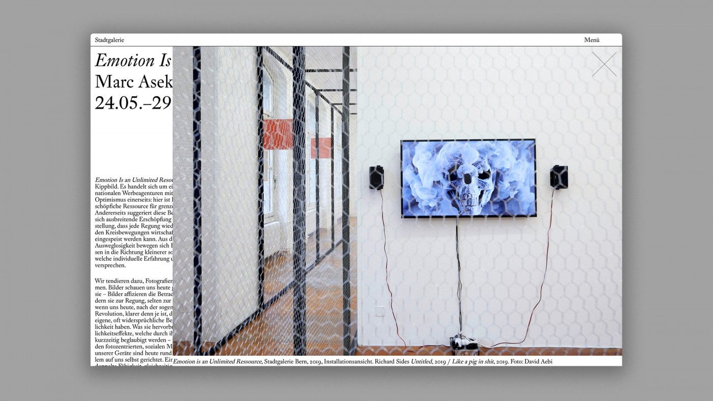 Stadtgalerie Bern Website